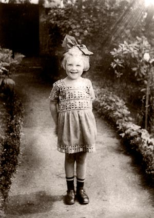 Derek's aunt Anne as a little girl in Germany