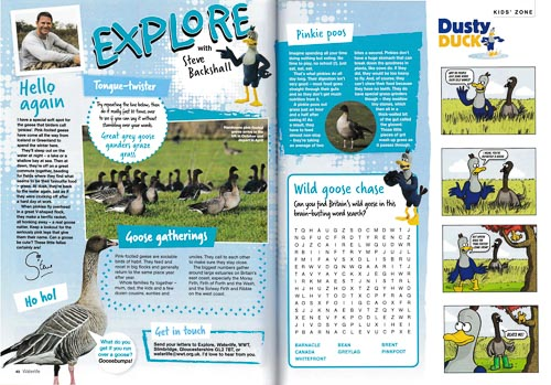 Article researched and written by Derek Niemann for children, for the WWT members' magazine