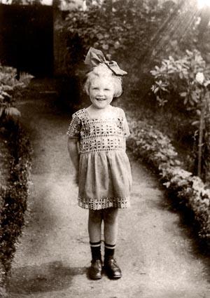 Derek's aunt Anne as a little girl in Germany