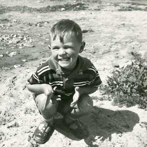 Derek as a small boy