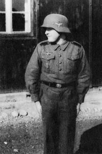 Derek's Uncle Dieter in flakhelfer uniform