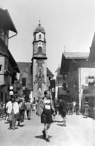 Nazis in the Bavarian town of Mittenwald, late 1930s