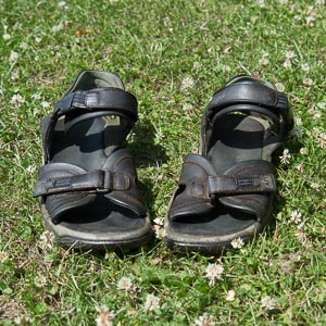 Derek Niemann's summer sandals